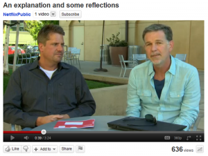 Reed Hastings speaks about Netflix changes